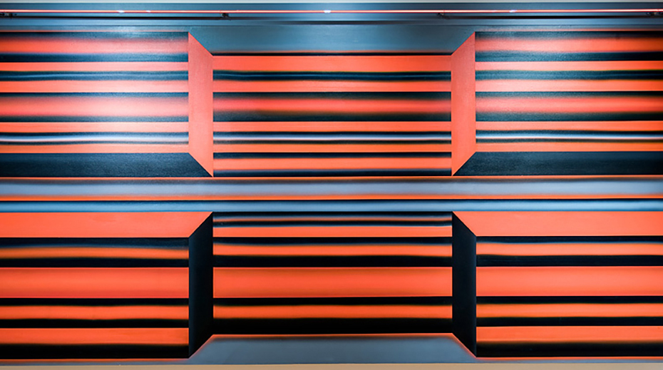 Image: Joan Balzar, Black X, c. 1968, acrylic paint on canvas, 169 x 325 cm. Gift of the Artist. Collection of the West Vancouver Art Museum (2017.004.1)